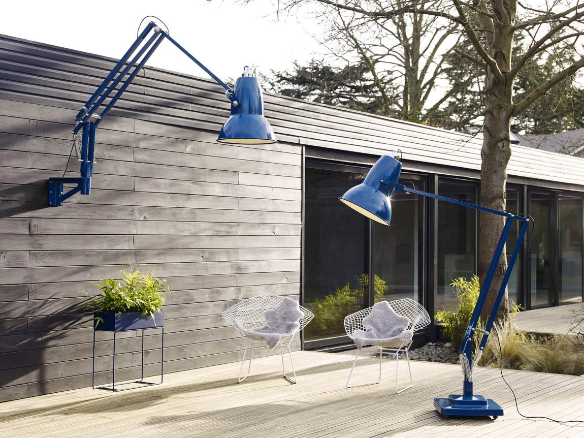 Anglepoise Original 1227 Giant Outdoor Floor & Wall Mounted Lamp – Marine Blue-2